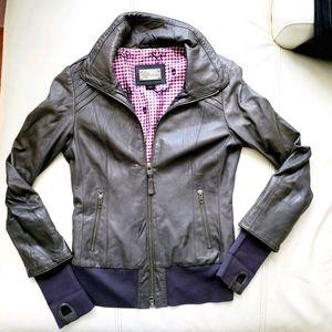 Mackage gray leather jacket